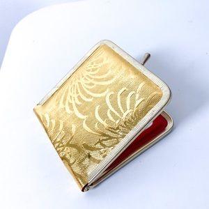 Vintage Gold Portable Compact Makeup Mirror